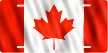 Flag of Canada Auto Plate sku T2925F