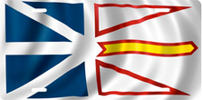 Flag of Newfoundland Auto Plate sku T2922F