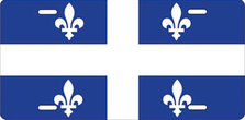 Flag of Quebec Auto Plate sku T2928F