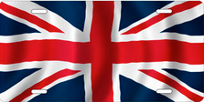 Flag of Great Britain Auto Plate sku T2931F