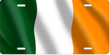 Flag of Ireland Auto Plate sku T2914F