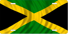 Flag of Jamaica Auto Plate sku T2920F