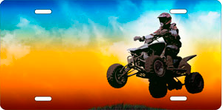 Four Wheeler on Full Color Offset Auto Plate sku T9375D