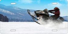 Snowmobiler Auto Plate sku T2554B