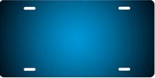 Dark Blue Ringer Brushed Metal Auto Plate sku TB2840F