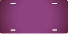 Purple Ringer Brushed Metal Auto Plate sku TB2840K