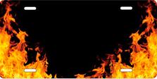 Realistic Flames Auto Plate sku T2740RFZ