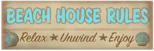 Beach House Rules Wood Sign sku WS701