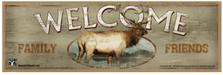 Elk Welcome Wood Sign sku WS2227
