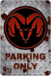 Ram Parking Only Sign sku MS3176C