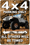 4x4 Parking Only Sign sku MS9380J