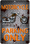 Motorcycle Parking Only Sign sku MS2180C