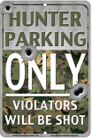 Hunter Parking Only Sign sku MS9300H