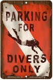 Parking for Divers Only Sign sku MS9446A