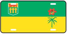 Saskatchewan Prov Flag Plate