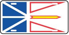 Newfoundland Prov Flag Plate
