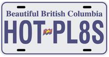 British Columbia Prov Plate