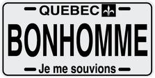 Quebec Prov Plate