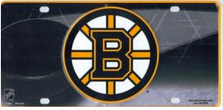 Boston Bruins Metal License Plate