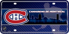 Montreal Canadiens Metal License Plate