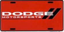Dodge Motorsports Auto Plate