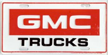 GMC Trucks Auto Plate