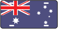 Australia World Flag Auto Plate