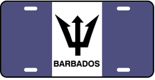 Barbados World Flag Auto Plate