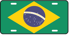 Brazil World Flag Auto Plate