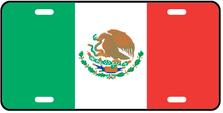 Mexico World Flag Auto Plate