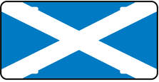 Scotland World Flag Auto Plate