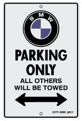 BMW Parking Only Sign DecalMonstercom - Bmw parking only signs
