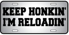 Keep Honkin Auto Plate