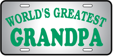 Worlds Greatest Grandpa Auto Plate