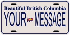 *Make Your Own* British Columbia Prov Plate