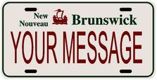 *Make Your Own* Newbrunswick Prov Plate