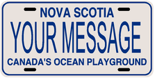 *Make Your Own* Nova Scotia Prov Plate