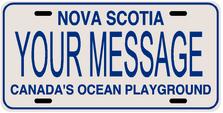*Make Your Own* Nova Scotia Prov Plate