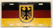 Germany Flag with Eagle License Plate SA905