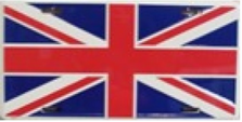 British Flag License Plate SA477