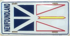 Newfoundland Flag License Plate SA2392
