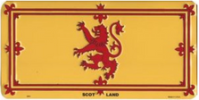 Scotland-Rampant Lion Flag License Plate LPO870
