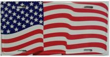 America Flag License Plate 2412