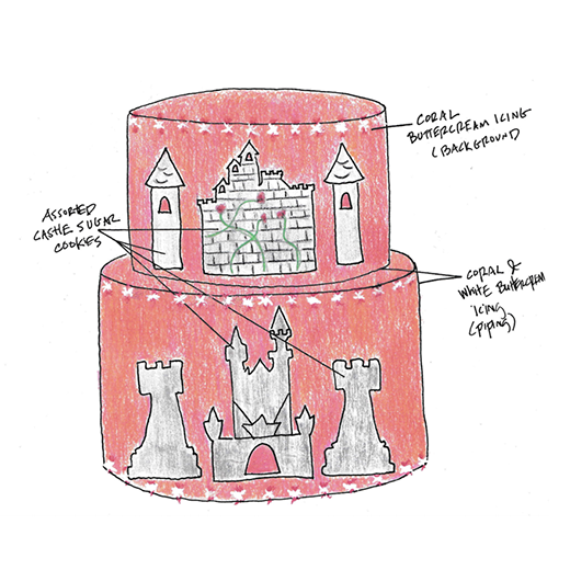 Castle Cookie Cake