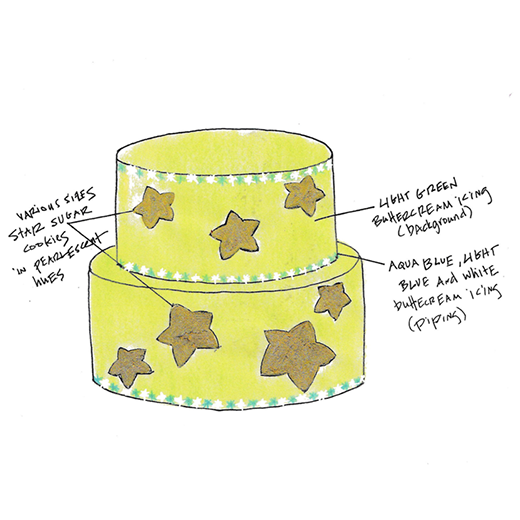 Star Cookie Cake
