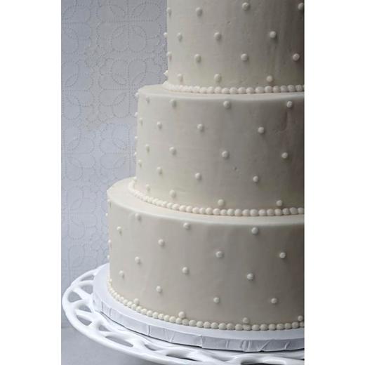 "White Cake ""Swiss Dot"""