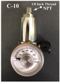 GASCO 70-THREAD-Series THREADED 1/8 Outlet Calibration Gas Regulator C-10 Connection