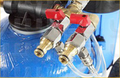 Optional double outlet with detergent injector