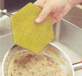 3M Scourer Scotch-brite Dual Hexagon Pot Scrub