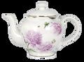 Ashdene Pink Peonies Teapot with Metal Infuser